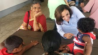 Katie Arrington campaigning in Mt. Pleasant, SC, on Sunday. (Photo by David Weigel/The Washington Post via Getty Images)