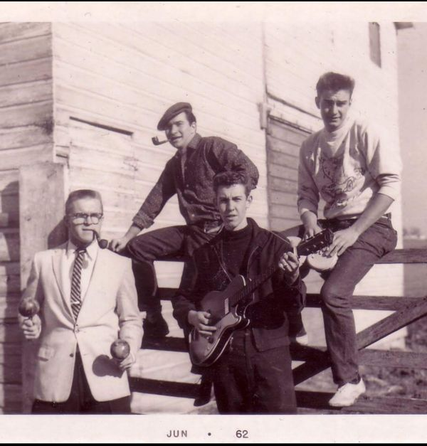 """This picture was taken in January 1962, in Grayson, Kentucky. My dad, Chuck Owston, was part of a folk-rock b"