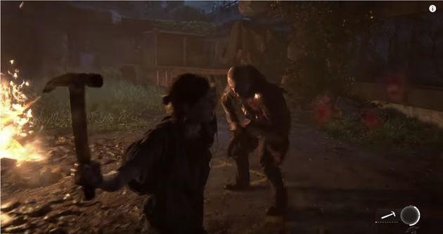 게임 '라스트 오브 어스 파트2'의 게임플레이 영상이