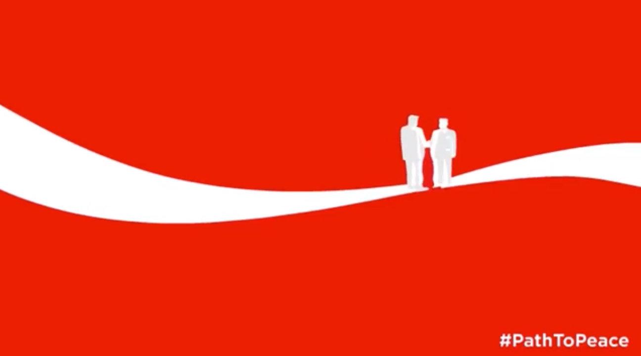 트럼프와 김정은이 코카콜라 광고 속에서도