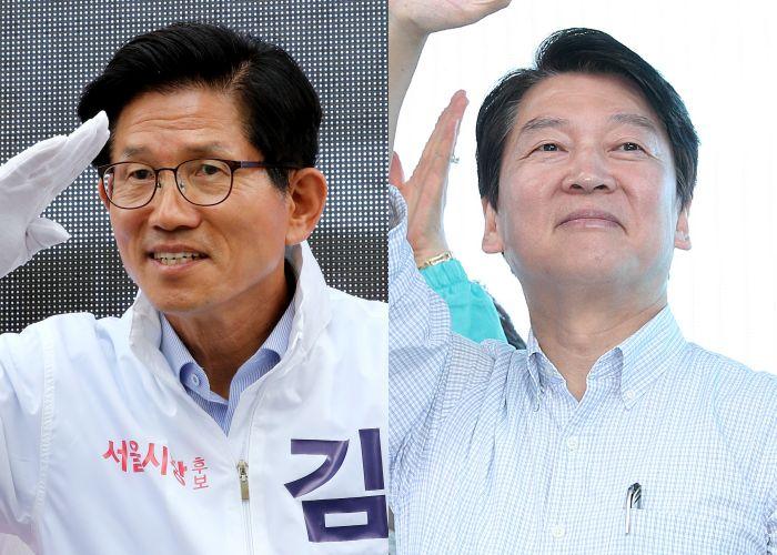 서울시장 선거에서 2등을 차지한 후보는 누구인가(출구조사