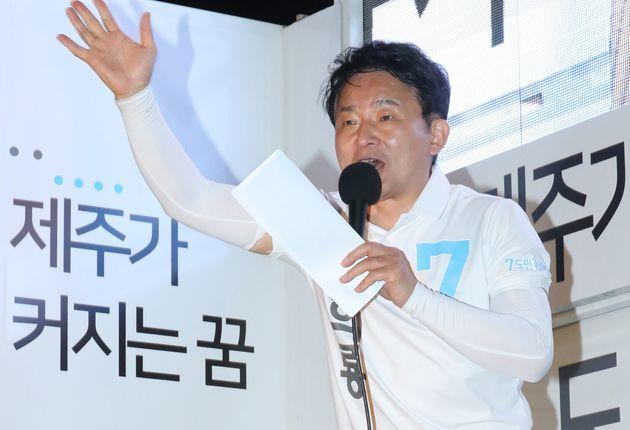 민주당도 자유한국당도 아닌 유일한 유력 '광역단체장' 후보 (출구조사