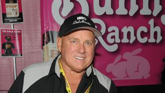 EDISON, NJ - NOVEMBER 13:  Dennis Hof owner of the 'Moonlite Bunny Ranch' attends Exxotica Day 1  at New Jersey Convention and Exposition Center on November 13, 2015 in Edison, New Jersey.  (Photo by Bobby Bank/Getty Images)
