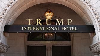 WASHINGTON, DC - AUGUST 10:  The Trump International Hotel is shown on August 10, 2017 in Washington, DC.  The hotel, located blocks from the White House, has become both a tourist attraction in the nation's capital and also a symbol of President Trump's intermingling of business and politics. (Photo by Win McNamee/Getty Images)