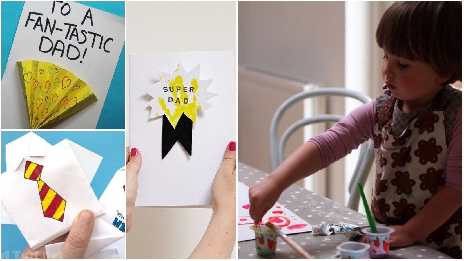 Adorable Father's Day Cards You Can Make With Kids Of All