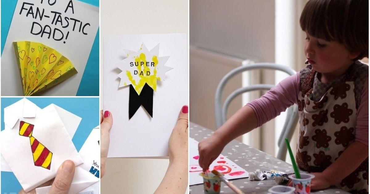 Adorable Handmade Fathers Day Cards You Can Make With Kids Of All