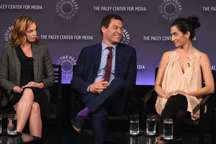 From left: Ruth Wilson, Dominic West and Sarah Treem at PaleyFest in New York.