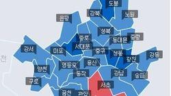기초단체장 선거 또한 민주당의 압승이