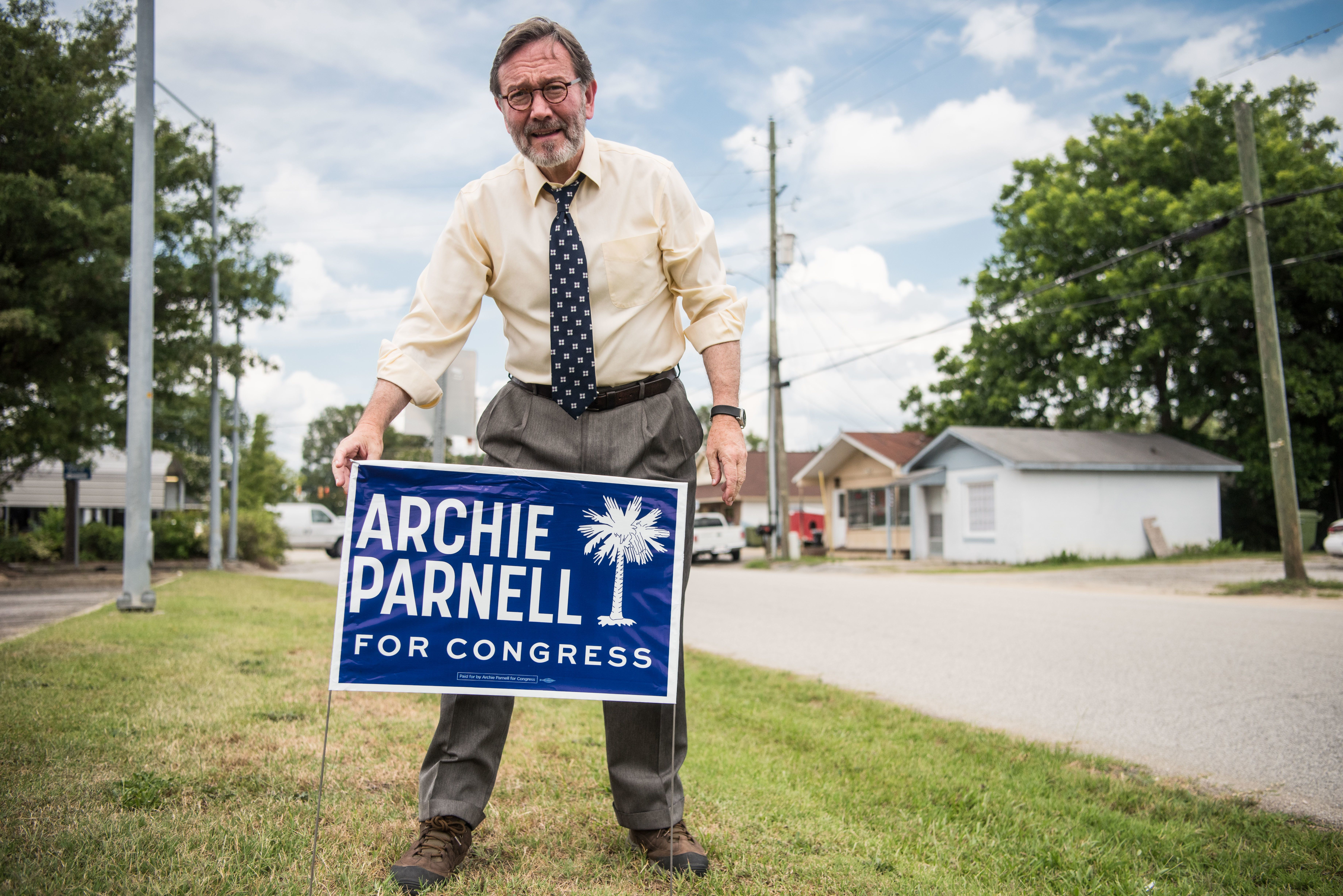 South Carolina DemocratArchie Parnell in 2017, when he unsuccessfully ran for a House seat in a special election. He is