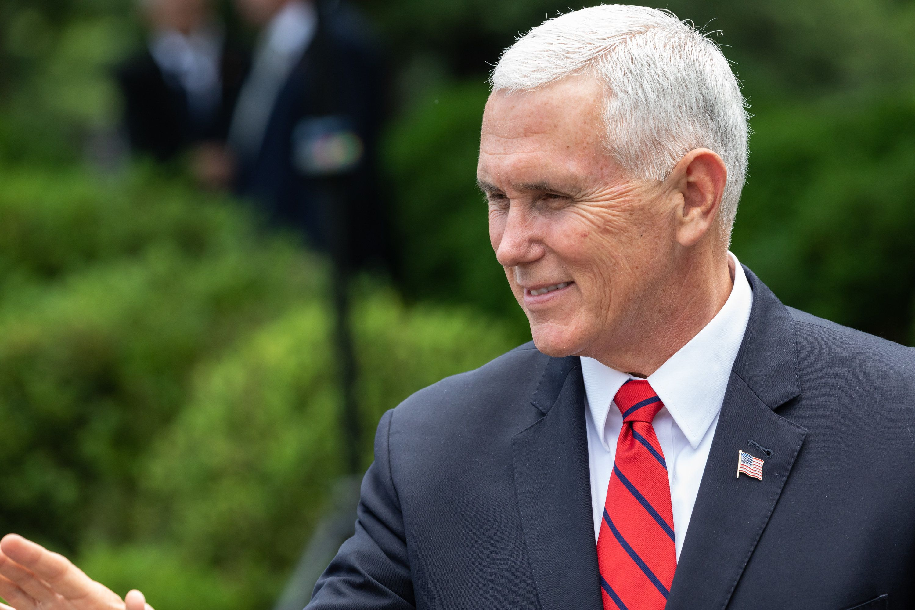 Vice President Mike Pence spoke Wednesday at the Southern Baptist Convention's annual meeting.