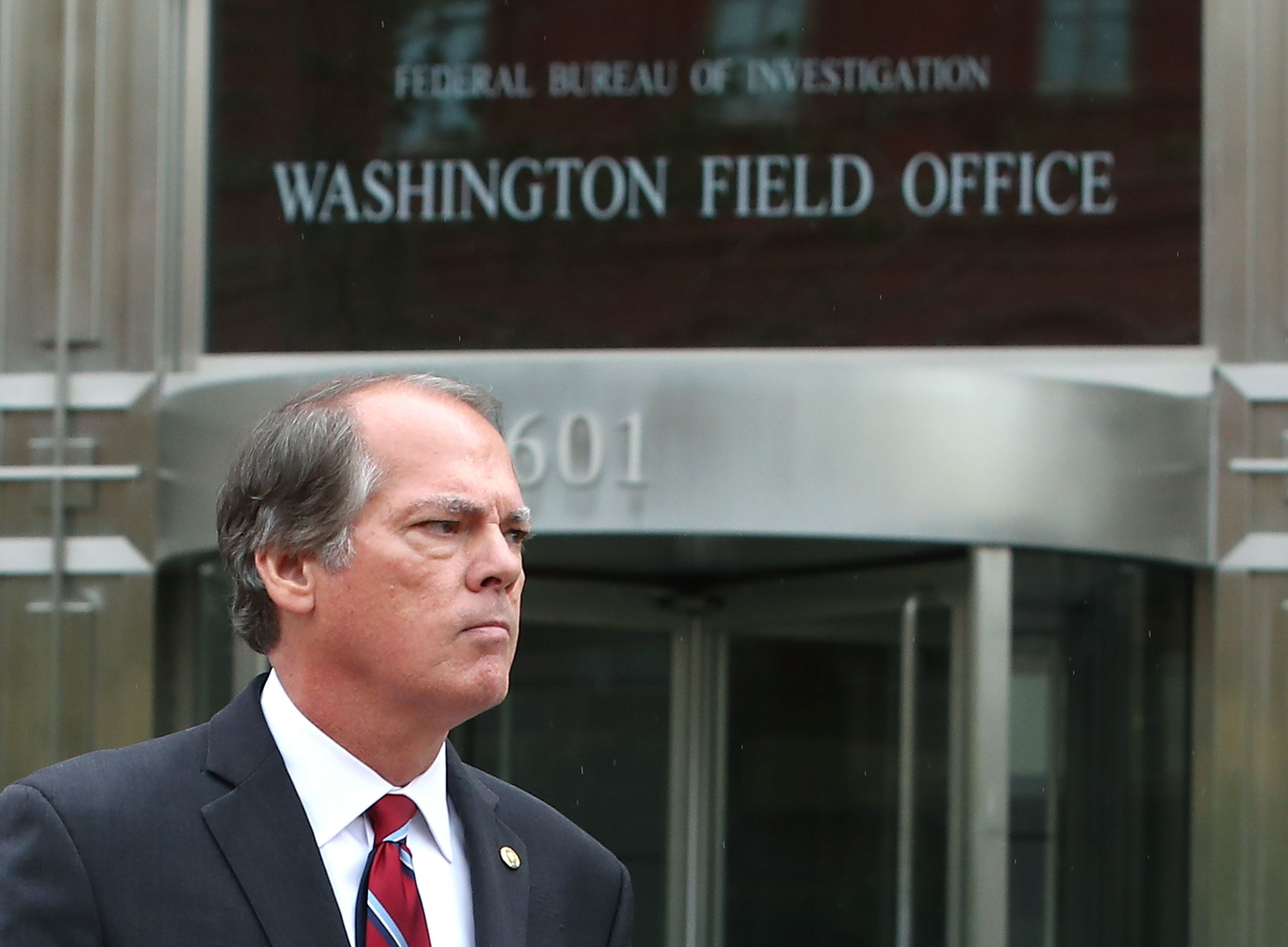 WASHINGTON, DC - JUNE 11:  James Wolfe, former director of security for the Senate Intelligence Committee, walks out from the Washington FBI Field Office after being processed on June 11, 2018 in Washington, DC. Wolfe was arrested last week on federal charges for leaking committee information to reporters.   (Photo by Mark Wilson/Getty Images)