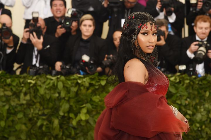 Nicki Minaj at the Met Gala on May 7, 2018, in New York City.