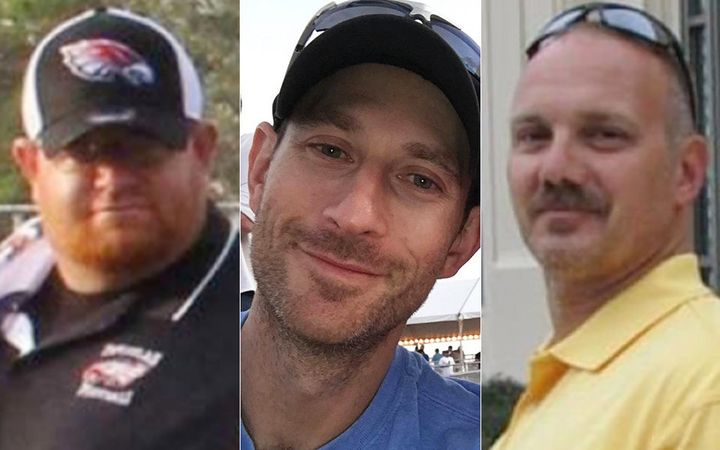 Aaron Feis (left), Scott Beigel (center) and Chris Hixon (right) will be awarded the ESPY Best Coach Award on July 18.