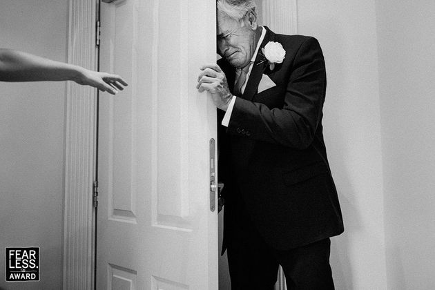 This tear-jerking moment was captured by London photographer Sam