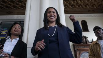 SAN FRANCISCO, CA - MARCH 8: London Breed, candidate for San Francisco mayor speaks to supporters at her campaign headquarters in San Francisco, CA on March 8, 2018.  A special election will be held on June 5 to fill the unexpired term of deceased Mayor Ed Lee. (Photo by Bonnie Jo Mount/The Washington Post via Getty Images)