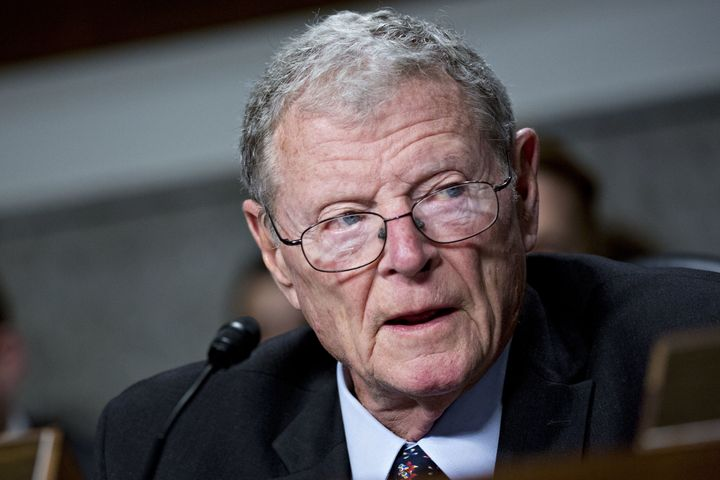 Sen. James Inhofe is a Republican senator from Oklahoma.