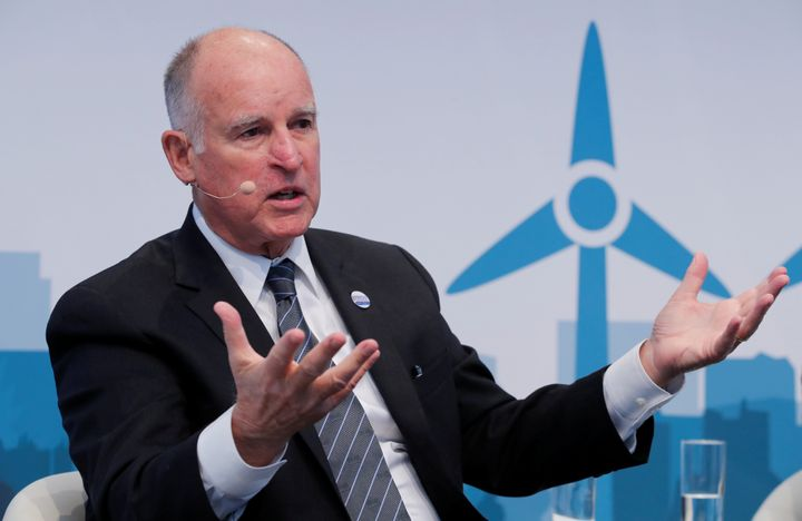 California Gov. Jerry Brown (D) speaks during the COP 23 UN Climate Change Conference hosted by Fiji but held in Bonn, G