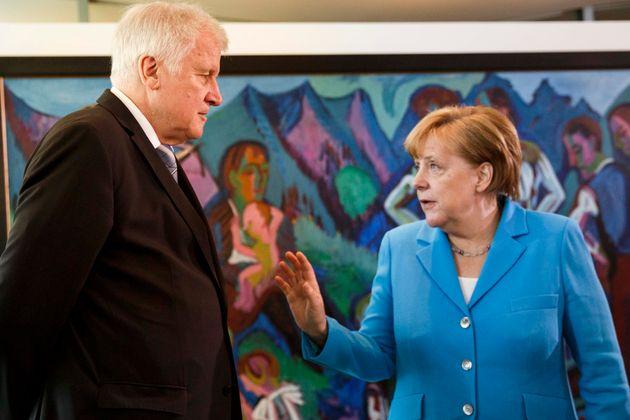 Streiten um eine Lösung in der Asylpolitik – und die Zukunft der Großen Koalition: Innenminister Horst Seehofer und Bundeskanzlerin Angela Merkel.