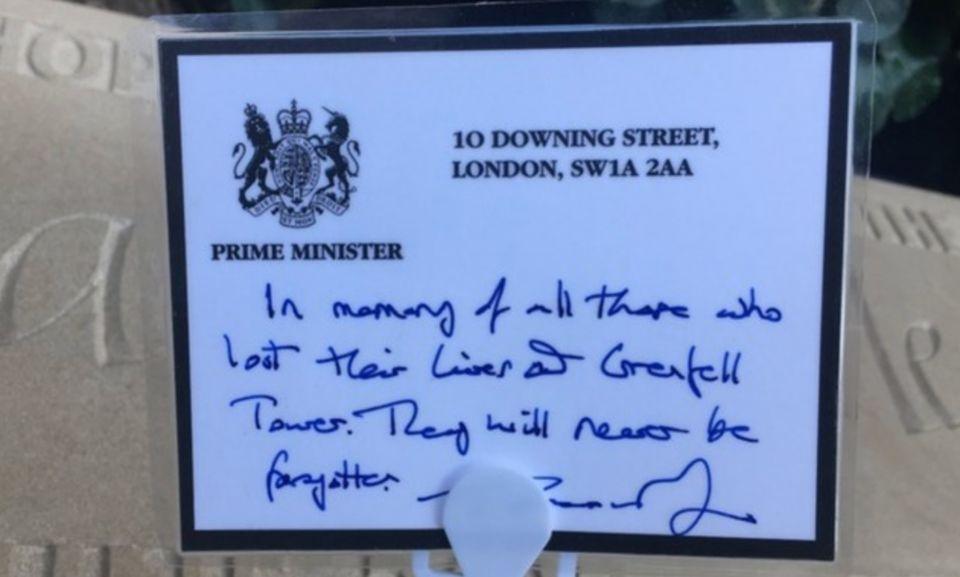 The PM's handwritten