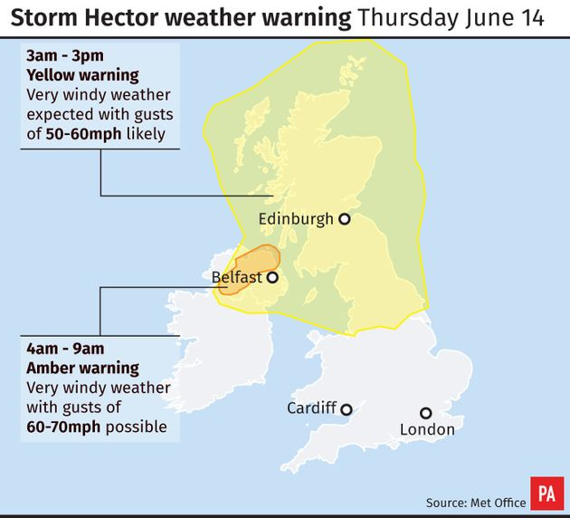 Weather warnings in place this