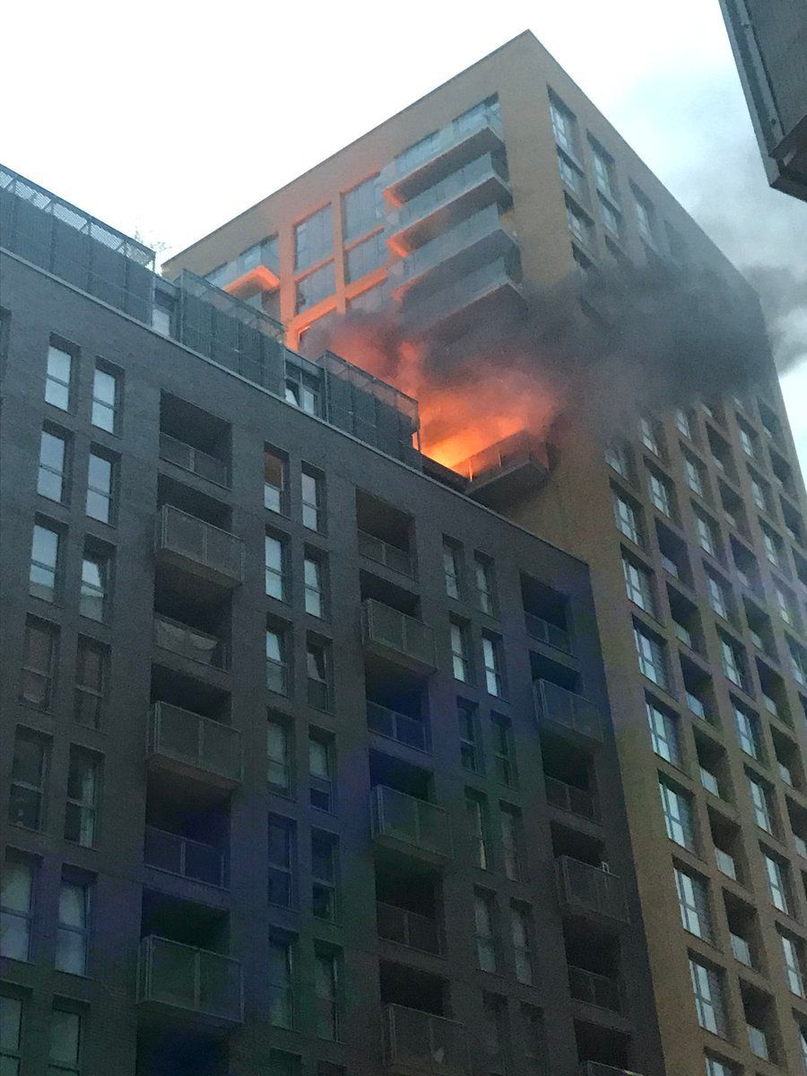 Lewisham Tower Block Evacuated As Fire Breaks Out On Eve of Grenfell