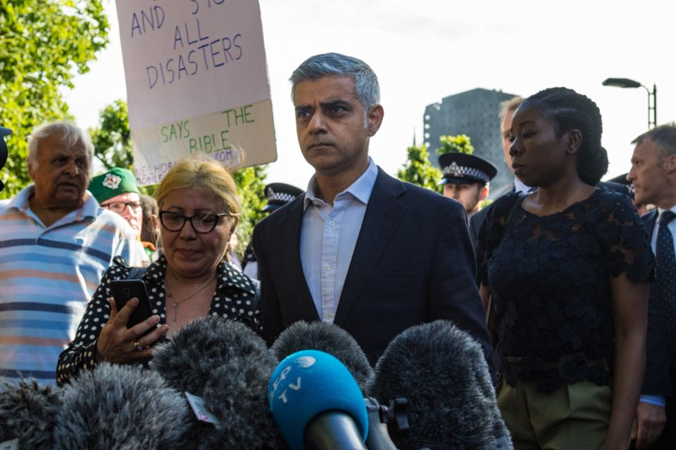 Sadiq Khan visits the day after the