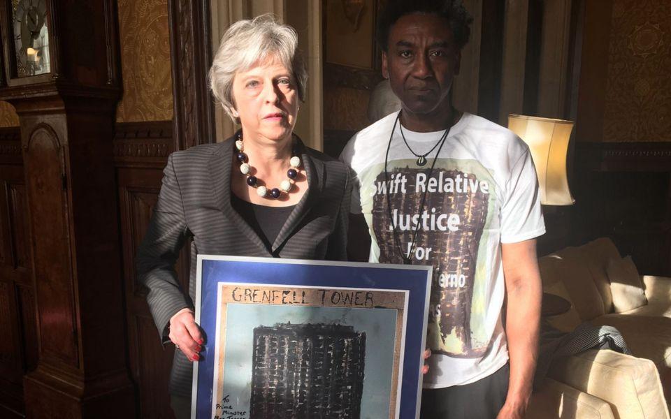 Theresa May and Damel