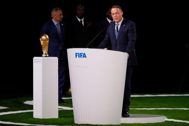 Le président de la Fédération royale marocaine de football (FRMF), Fouzi Lekjaa,...