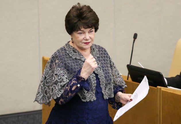 Russian State Duma member Tamara Pletnyova pictured in February.
