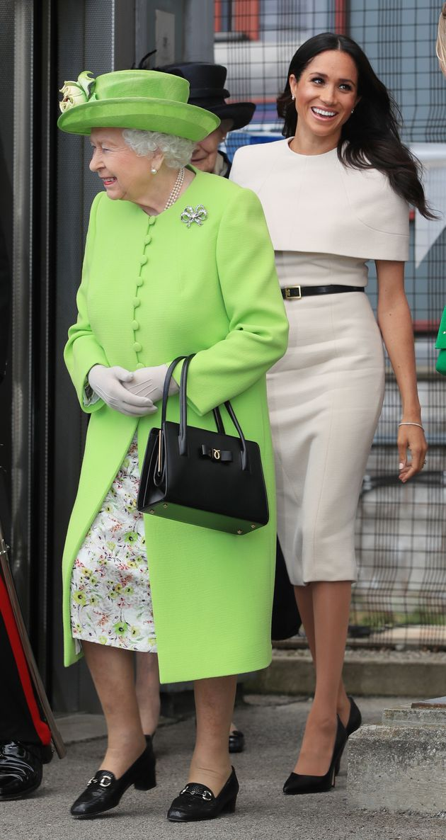 The former Meghan Markle and Queen Elizabeth