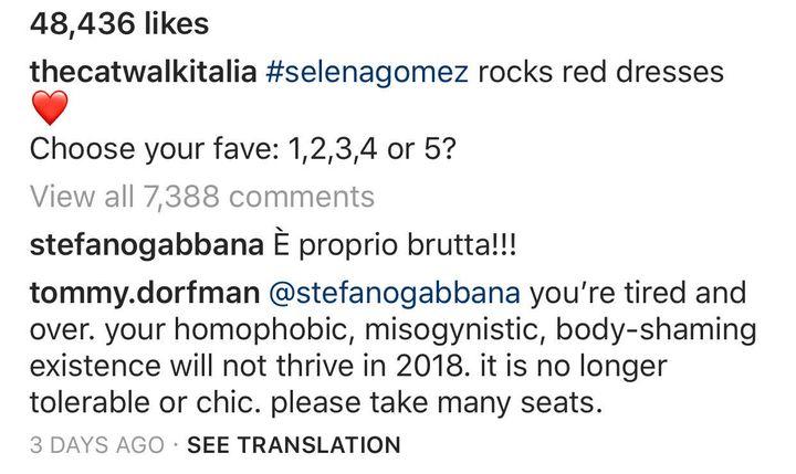 77f7a9fd Designer Stefano Gabbana Calls Selena Gomez 'So Ugly' On Instagram ...