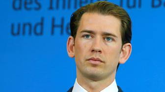 Austria's chancellor Sebastian Kurz attends a news conference with German Interior Minister Horst Seehofer in Berlin, Germany, June 13, 2018. REUTERS/Joachim Herrmann