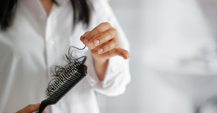 Stress-induced shedding doesn't always lead to permanent hair loss or baldness, but see a doctor if you notice more strands than usual falling out.