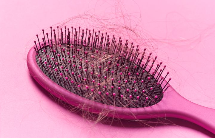 The average person loses 50 to 100 hairs a day. Physical and emotional stress can push hair follicles into a resting period, causing more hair to shed.