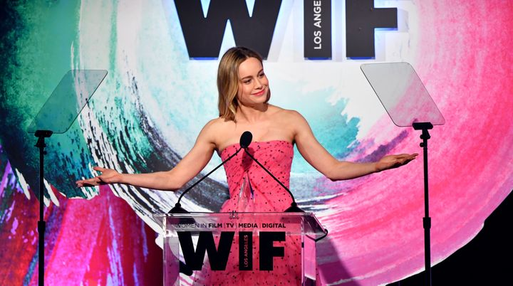 Brie Larson pushed for more diversity within the ranks of movie critics and other journalists who write about film as she accepted the Crystal Award for Excellence in Film at the Women In Film 2018 Crystal + Lucy Awards on Wednesday in Beverly Hills, California.