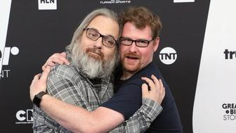 NEW YORK, NY - MAY 16:  Dan Harmon and Justin Roiland attend the 2018 Turner Upfront at One Penn Plaza on May 16, 2018 in New York City.  (Photo by Taylor Hill/FilmMagic)