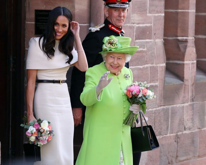 Meghan Markle embarked on her first joint engagement with Queen Elizabeth on Thursday.
