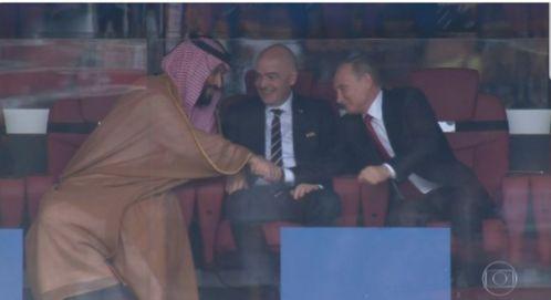 Cette vidéo de MBS, Vladimir Poutine et Gianni Infantino vaut le