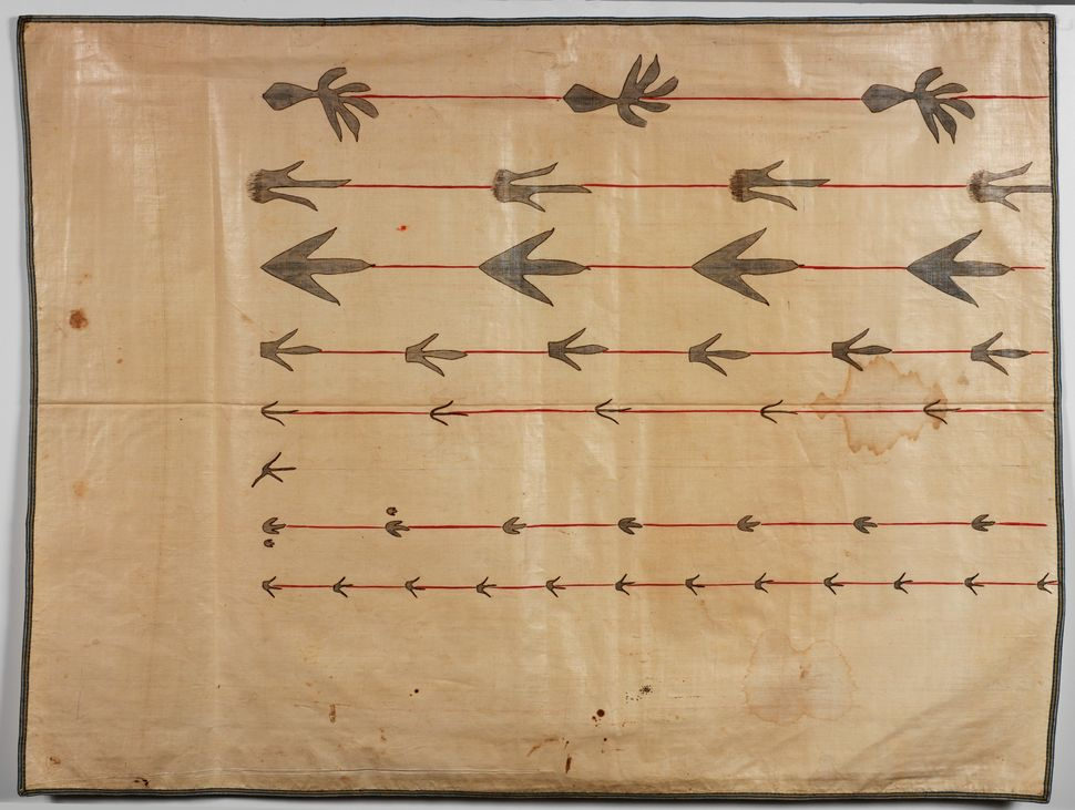 "Orra White Hitchcock's ""Seven Lines of Fossil Footprints"" (1828–1840)."