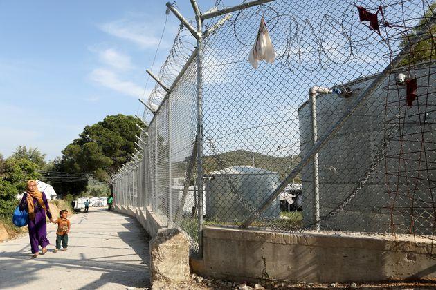 Das Flüchtlingslager Moria auf