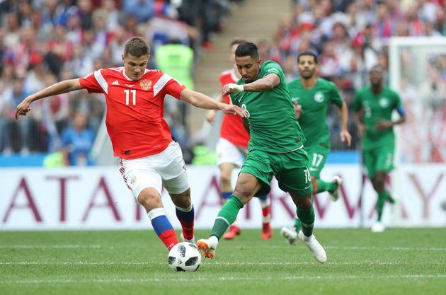 러시아가 월드컵 개막전에서 사우디를 5대0으로