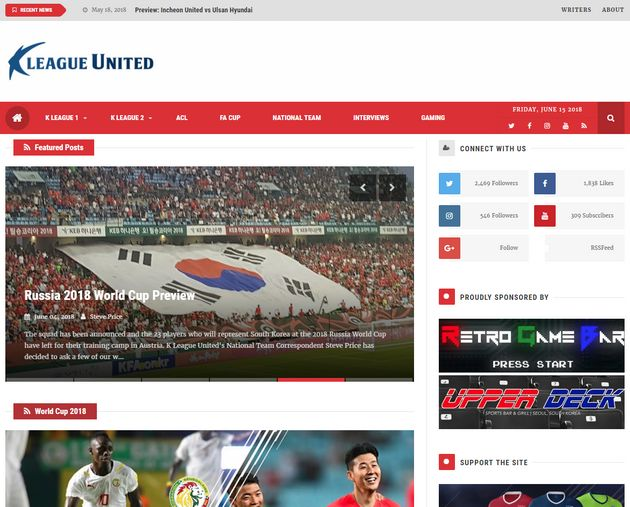 Main page of 'K League