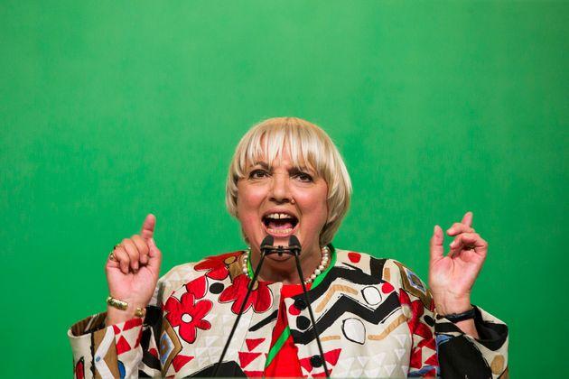 Claudia Roth auf dem Parteitag der Grünen im Juni