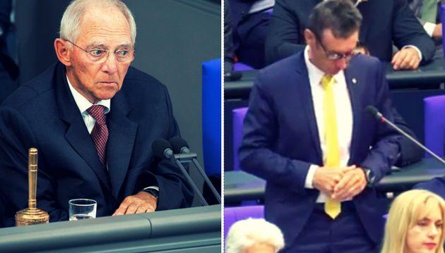 Wolfgang Schäuble und der FPD-Politiker Christoph