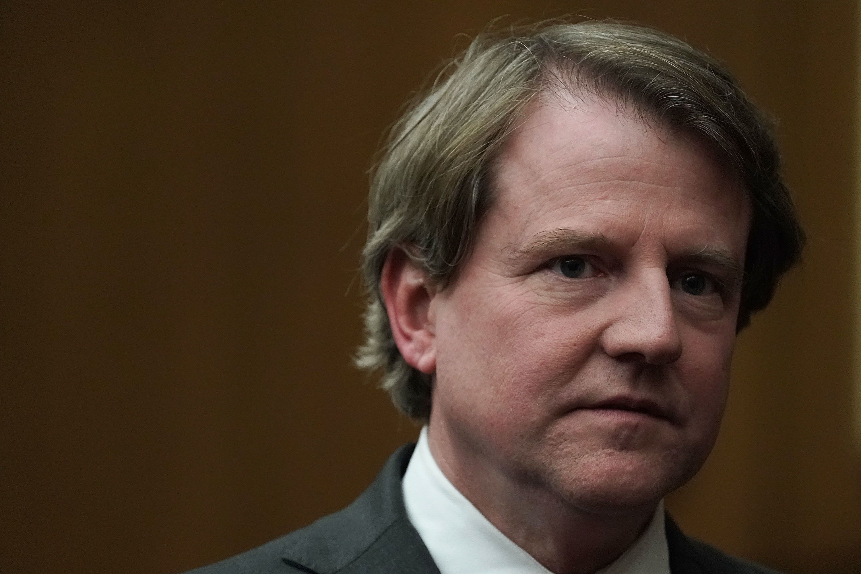 WASHINGTON, DC - APRIL 13:  U.S. White House Counsel Don McGahn after the investiture ceremony for U.S. District Judge Trevor N. McFadden April 13, 2018 at the U.S. District Court in Washington, DC.  (Photo by Alex Wong/Getty Images)