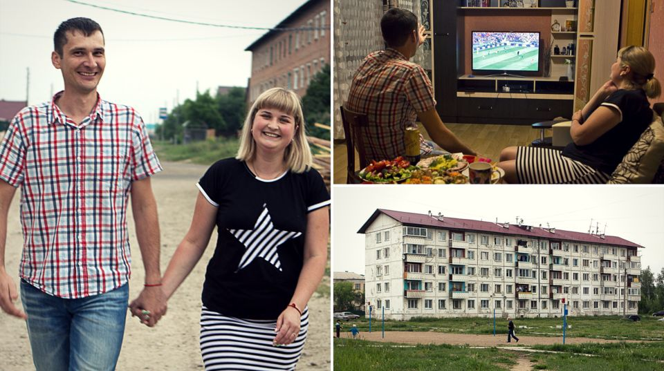 Thousands of miles away in Siberia, Anatolii and Julia watched a 5–0 scorefor their team...