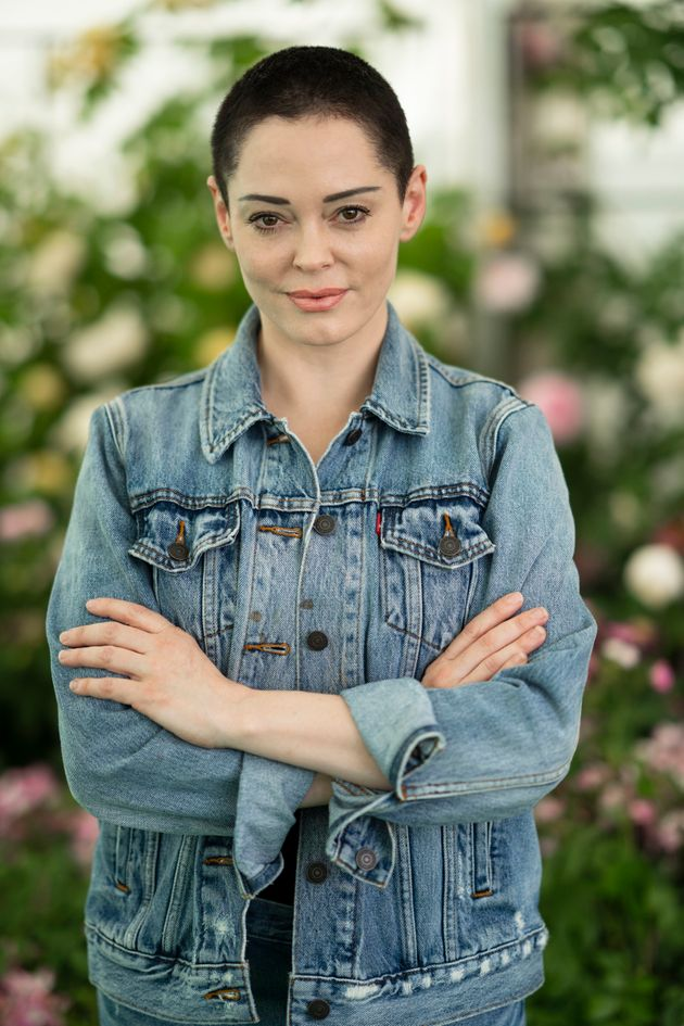 Rose McGowan in Wales earlier this