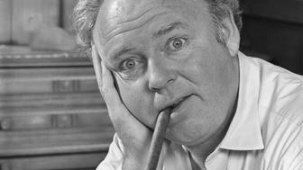 LOS ANGELES - OCTOBER 26: Carroll O'Connor as Archie Bunker in 'All In The Family.' Image dated October 26, 1971.  (Photo by CBS via Getty Images)