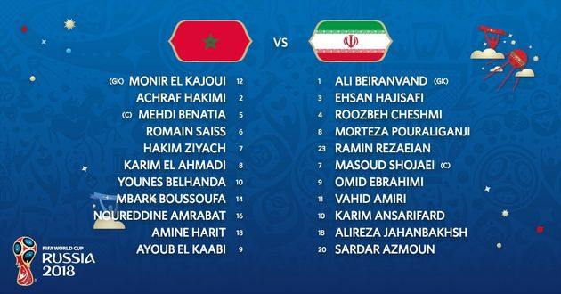 Maroc-Iran: suivez en direct commenté le premier match des Lions de l