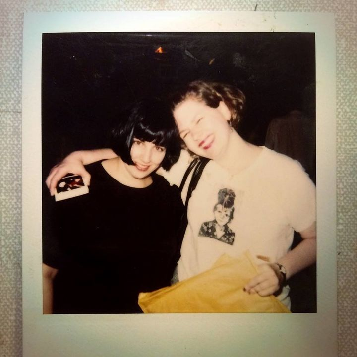 Chickfactor co-founders Pam Berry (left) and Gail O'Hara in the early 1990s.